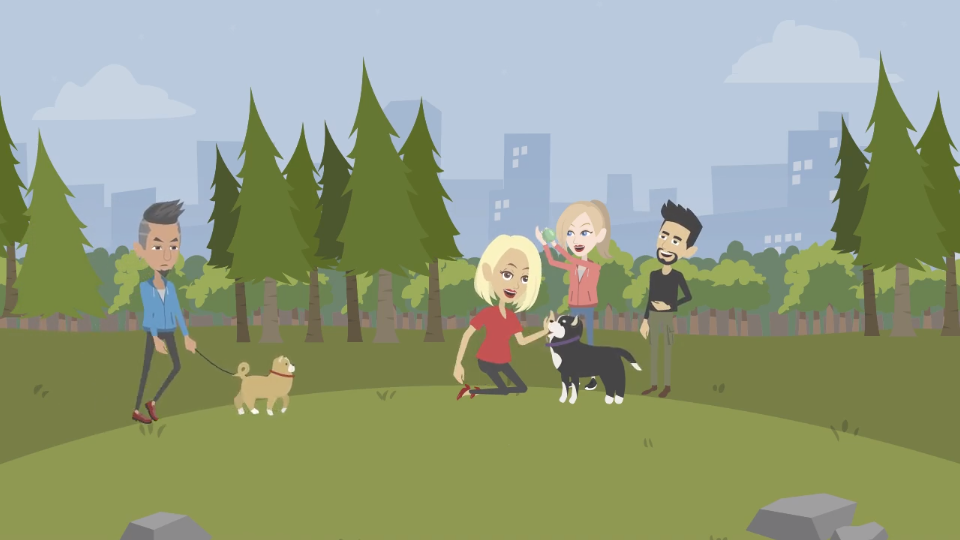 DEX App - Play with your dog in park